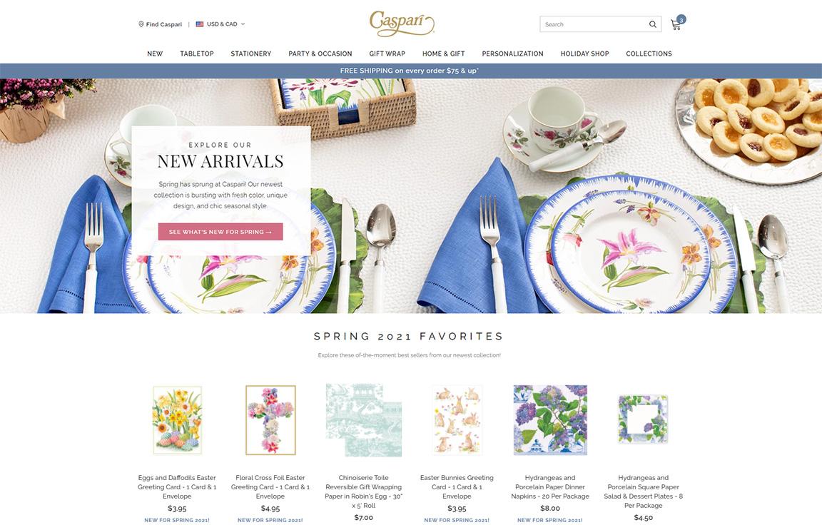 Caspari on Shopify Plus: A Case Study