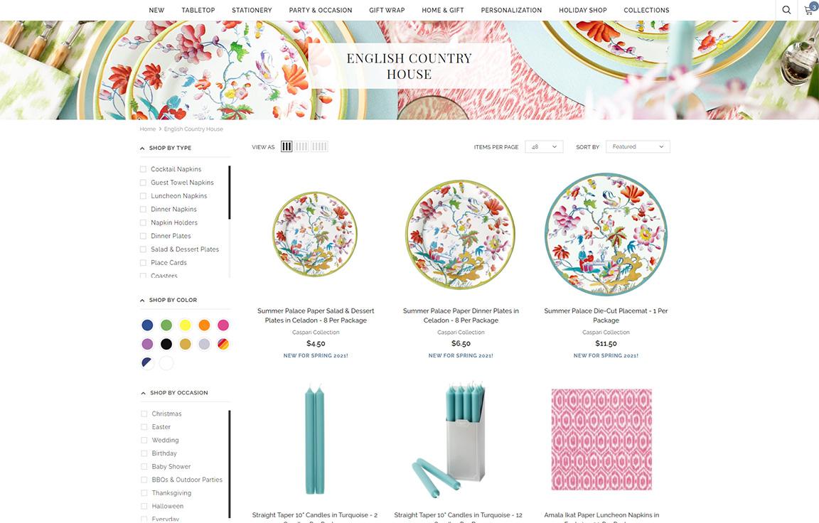 A CaspariOnline Collection Page