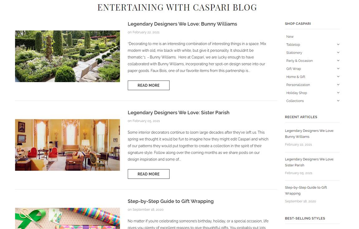 Caspari's Blog